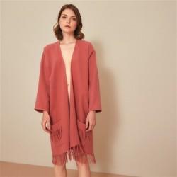 Poncho laine 3/4 taille unique